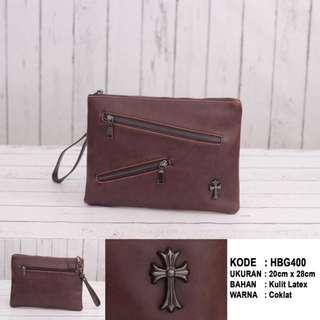 Tas Tangan / Handbag / Clutch Pria Import (HBG400) - Brown