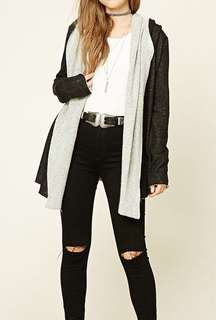 FOREVER 21 Long Sleeves Cardigan with Hood