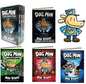 Dog Man Book 1-4 (4 books in total)