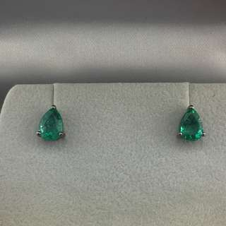2卡30份綠寶 18K黑金耳環 18K Black gold Earrings 2.30ct Emerald Earrings 可議價