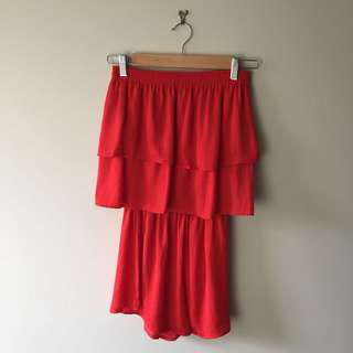 Glassons red playsuit