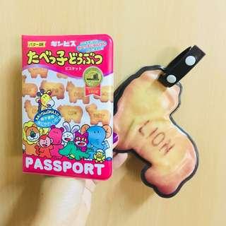 愉快動物餅護照套 & 行李牌 Passport Holder & Luggage badge