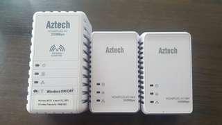 Aztech homeplug AV 200mbps + 2* 500bps
