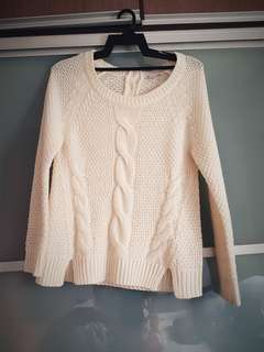 Knitted Sweater Off White UK8