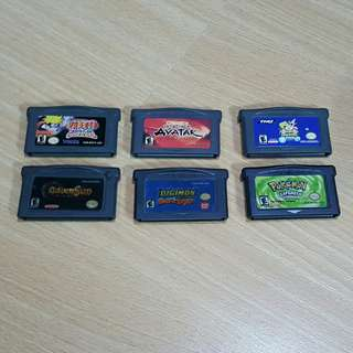 Gameboy advanced carts