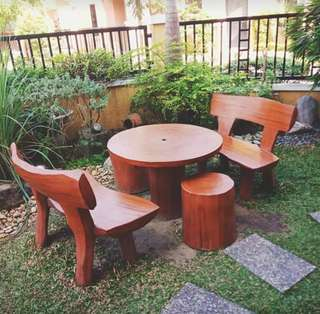 Rock-made Garden Table & Chairs