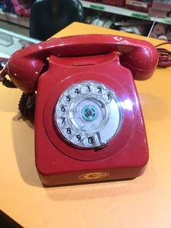 Vintage Analog Red Telephone