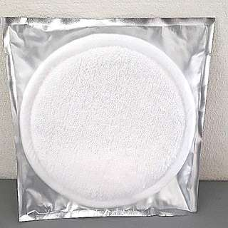 Round soft cloth texture used for face or body