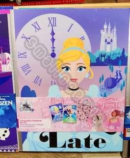 香港迪士尼 公主系列卡通筆記簿3本套装