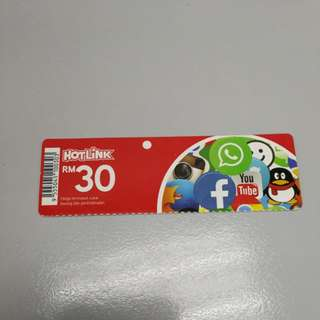 Maxis Hotlink Reload Card