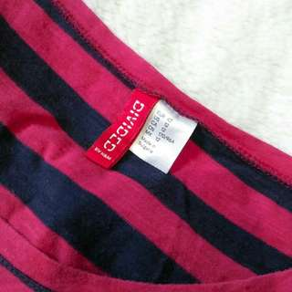 DIVIDED (H&M) Striped shirt w/ cap sleeves