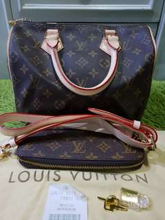 REPRUCED!!!LV SPEEDY BANDOULLIERE 25