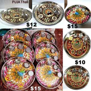 Prayer Tray Puja Thali for daily Hindy Rituals home