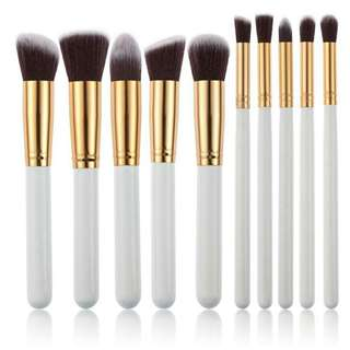 10 pcs Kabuki Makeup Brush Set