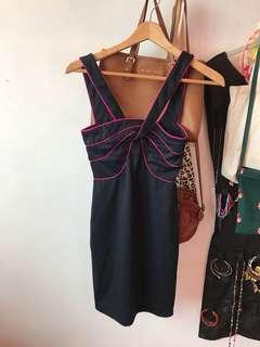🚚 BN ASOS contrast trim Bodycon dress