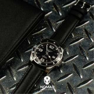 🚚 Saffiano Leather Strap in Black
