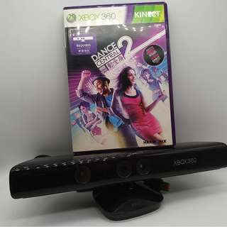 Microsoft Xbox 360 Kinect Sensor with Dance Central 2 Game
