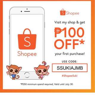 100.00 off @ Shopee !!