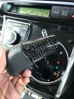 Carbon fiber knop gear Toyota wish