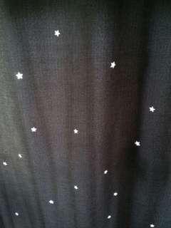 全新窗簾 遮光 灰色 通窿星星 附掛鈎