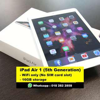 [2nd Hand] iPad Air 1 (16GB), WiFi only