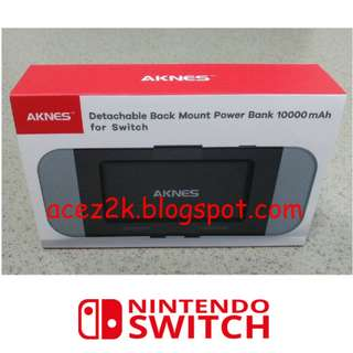 (BNIB) AKNES 10,000 mAh Nintendo Switch Detachable Battery Pack (Brand New Boxed)