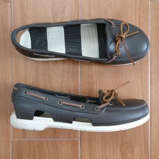 [crocs] slip on boat shoes