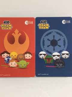 Limited Edition brand new Star Wars And Tsum Tsum ezlink Cards For $13.90 EACH.