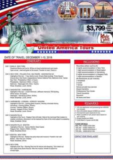 Full package USA tour with Eva Air