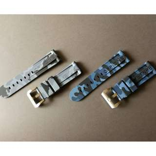 OFFICINE PANERAI 24mm Grey&Blue CAMO Watch Strap