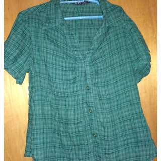 Green Polo blouse