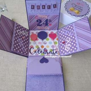Purple Birthday Gift Box Album