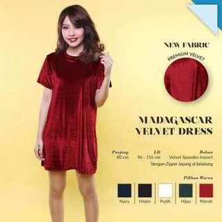 Velvet Dress Murah