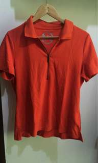 Used once Michael Kors Orange Zip Polo Shirt