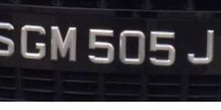 Car plate for sale SGM505J