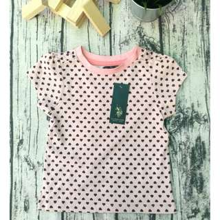 POLO ASSN T-shirt 100% Cotton Casual Kids ( love pink)