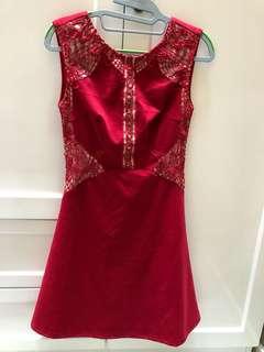 Dress Merah sincia wedding