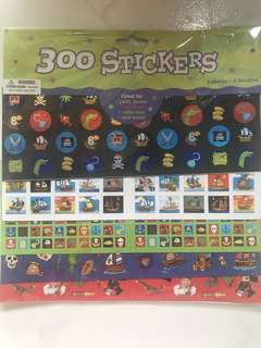 300 Pirates Stickers (5 Sheets)