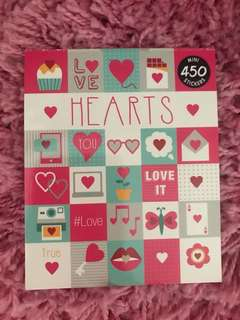 450 Mini Stickers <Hearts >