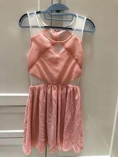 Dress peach mossman