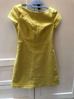 Dress TRF zara kuning