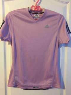 Addida shirt, purple, size S