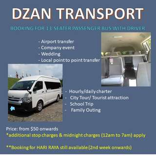 13-seater passenger bus for chartar