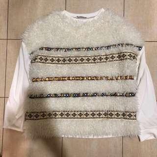 Zara fur sweater