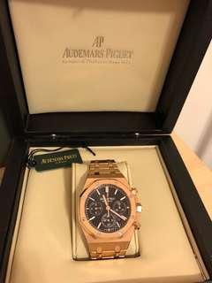 🚚 復刻 一比一 AP 皇家橡樹離岸型 Audemars Piguet Royal Oak Chronograph Rose Gold Black 玫瑰金