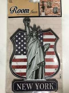 Wall Decoration 3D Foil Sticker <New York>