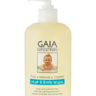 Gaia Natural Baby Hair & Body Wash 500ml (with fitted pump)