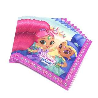 💕 Shimmer and Shine Party Supplies - party napkins