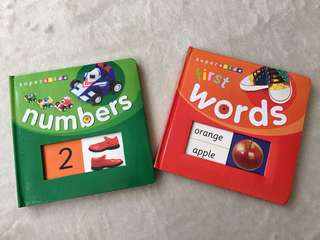 Superslide Numbers and Words Books for Toddlers