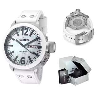 Original TW Steel CEO Cantern 45mm Ceramic MOP Mens Watch CE1037